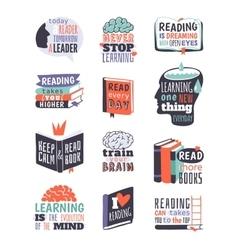 Reading motivation badge vector