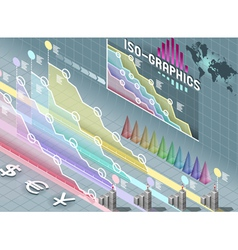 Isometric infographic set elements with vector