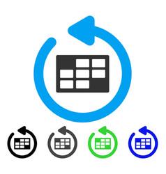 Refresh calendar table flat icon vector