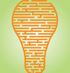 Light bulb maze vector