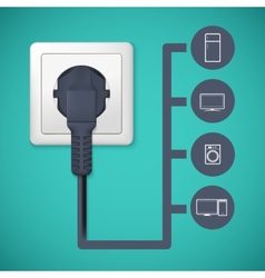 Electrical plug closeup vector