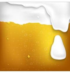 texture of beer with foam vector image