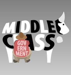 Middle class and government vector
