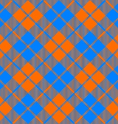 Fabric texture diagonal pattern seamless orange vector