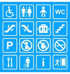 Service Signs icon set vector image