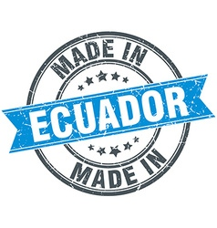Made in ecuador blue round vintage stamp vector