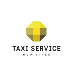 Taxi logos sign abstract geometrical vector