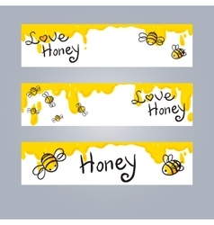 Honey and bee vector