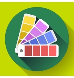 Color guide swatches palette - typographic fan vector