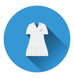 Tennis woman uniform icon vector