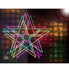 Abstract techno background with stars vector image vector image