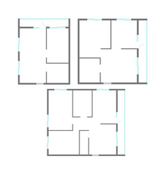 Apartment plan set vector