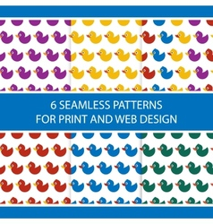 Baby ducks pattern vector