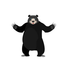 Baribal happy emoji american black bear merryl vector