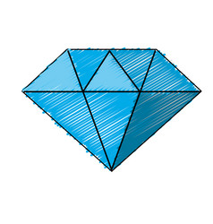 Beautiful gem diamond to luxury use vector