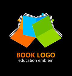 Book logo template vector