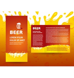 Brochure beer splash vector