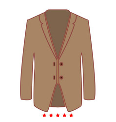 Business suit icon flat style vector