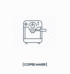 coffee maker outline icon isolated vector image vector image