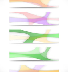 Collection of transparent web headers vector