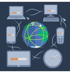 Computer technology and communication vector image vector image