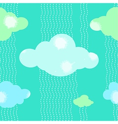 Green clouds pattern background vector