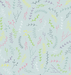 Hand-drawn branches seamless background vector image