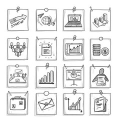 hand drawn business concept vector image vector image
