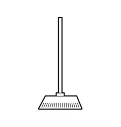 House broom isolated icon vector