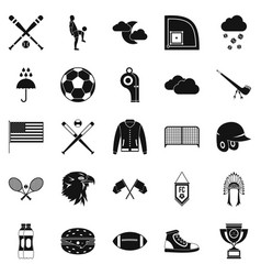 Kinds of sports icons set simple style vector