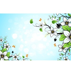 Leaves and flowers vector image vector image