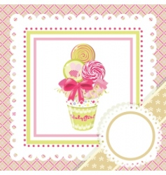 lollipop bouquet on frame vector image