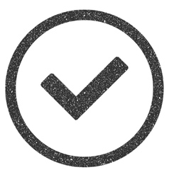 Ok Icon Rubber Stamp vector image vector image