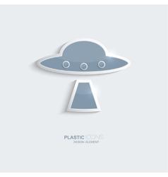 Plastic icon ufo symbol vector image