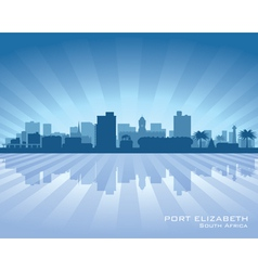 Port Elizabeth Africa city skyline silhouette vector image vector image