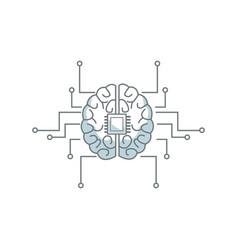Printed circuit board human brain center of vector