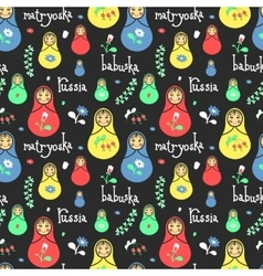 Russian traditional style toys babushka vector
