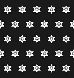 Seamless pattern of geometric shapes on a black ba vector