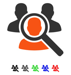 Search patient flat icon vector