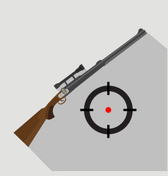 sniper scope rifle isolated flat and cartoon vector image