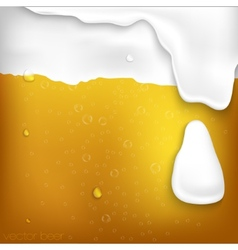 texture of beer with foam vector image