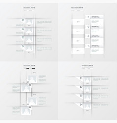Timeline design 4 item white color vector