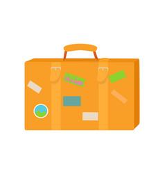 Traveler suitcase flat design vector