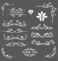 Vintage line art ornamental vector