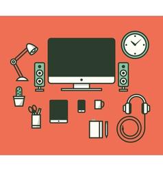 Workspace vector image vector image
