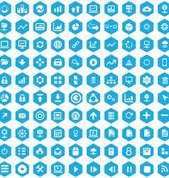100 big data database icons vector
