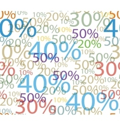 Seamless background of discounts vector