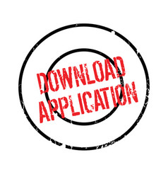 Download application rubber stamp vector