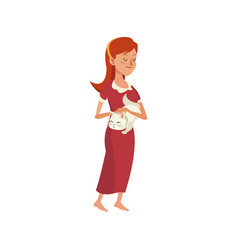 woman cartoon icon vector image