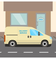 Beige delivery van vector